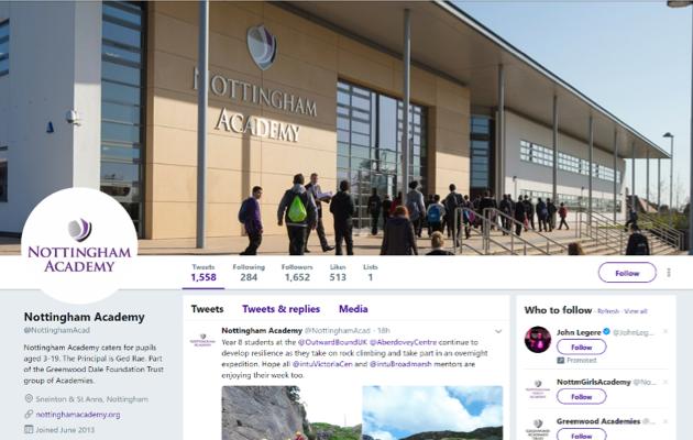 Nottingham Academy Twitter