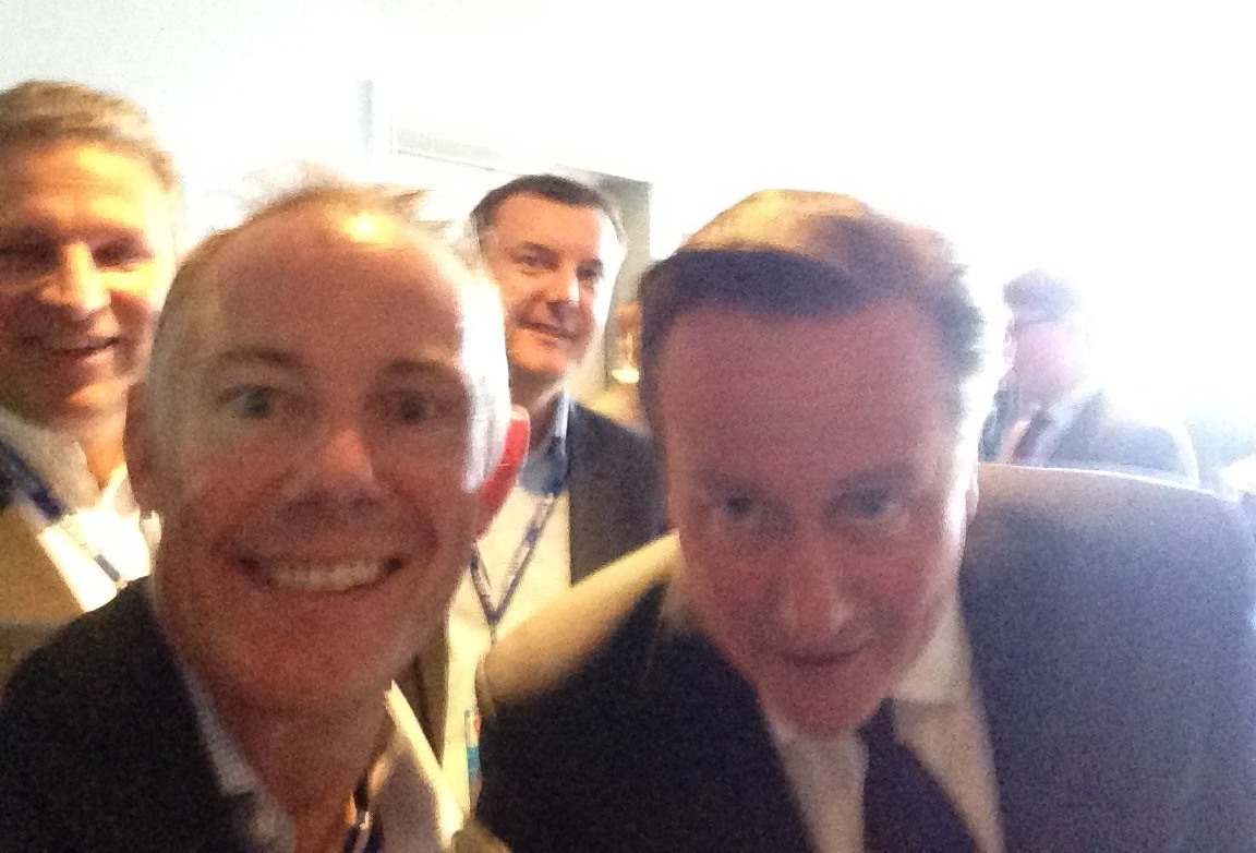 CEO James Leavesley Captures Selfie with Prime Minister David Cameron