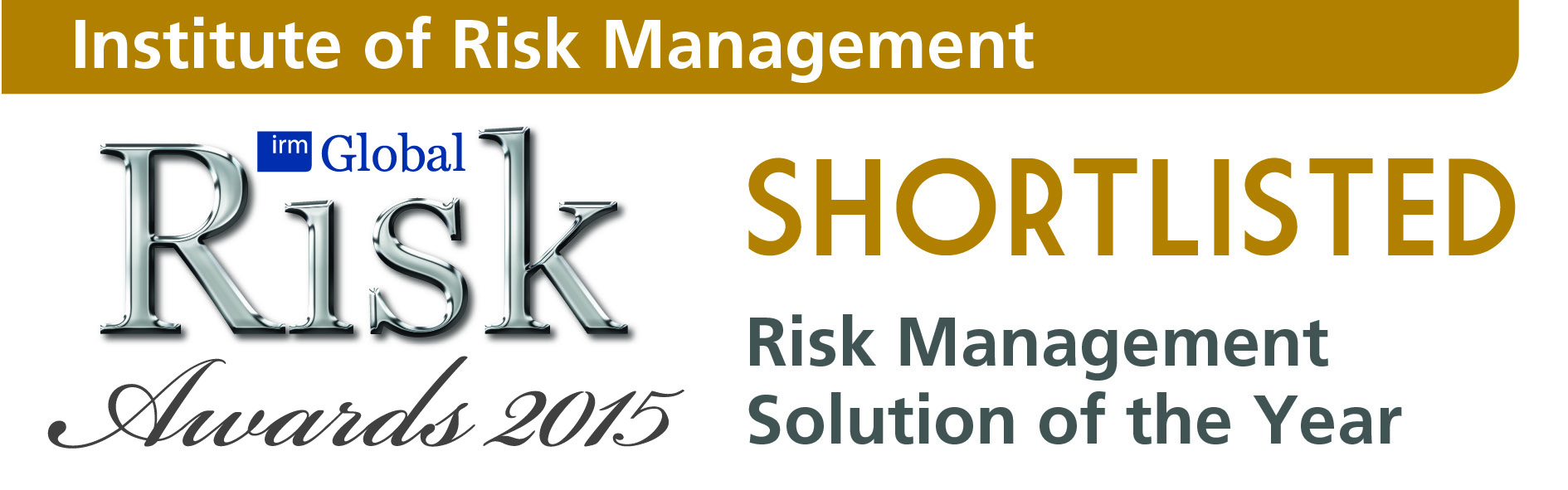 Risk Management Solution of the Year - Institute of Risk Management
