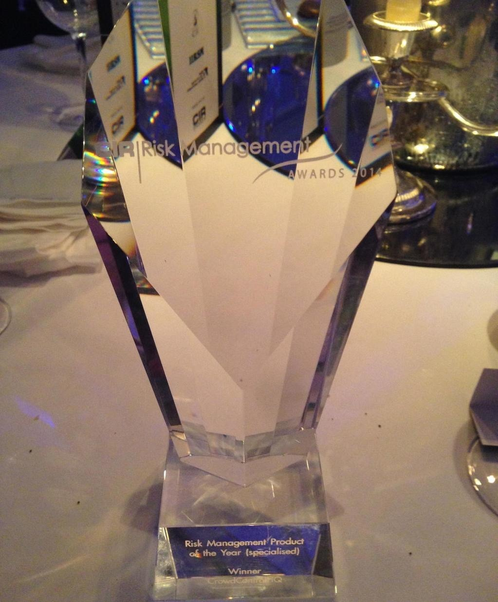 CIR Risk Management Awards 2014 | Risk Management Product of the Year (Specialised) Winner CrowdControlHQ