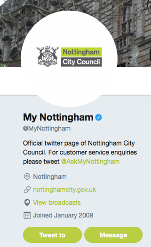 Notts city council twitter