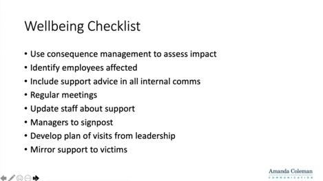 Wellbeing Checklist